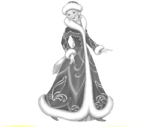 Игра раскраска Дед Мороз и снегурочка играть онлайн бесплатно