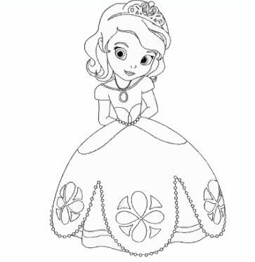 Игра Принцесса София: раскраска играть онлайн бесплатно