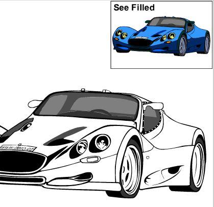 Игра раскраска авто играть онлайн бесплатно