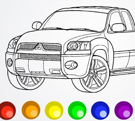 Игра раскраски для мальчиков машины играть онлайн бесплатно