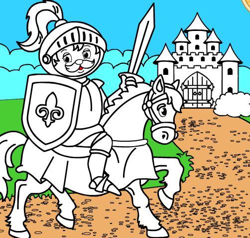 Игра раскраски рыцари играть онлайн бесплатно