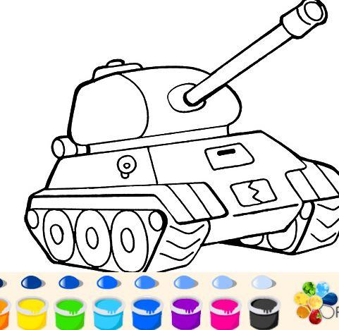 игра раскраски танки играть онлайн бесплатно