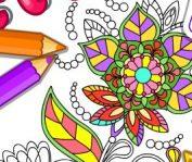 раскраски антистресс для девочек онлайн