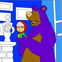 Игры маша и медведь играть раскраска онлайн